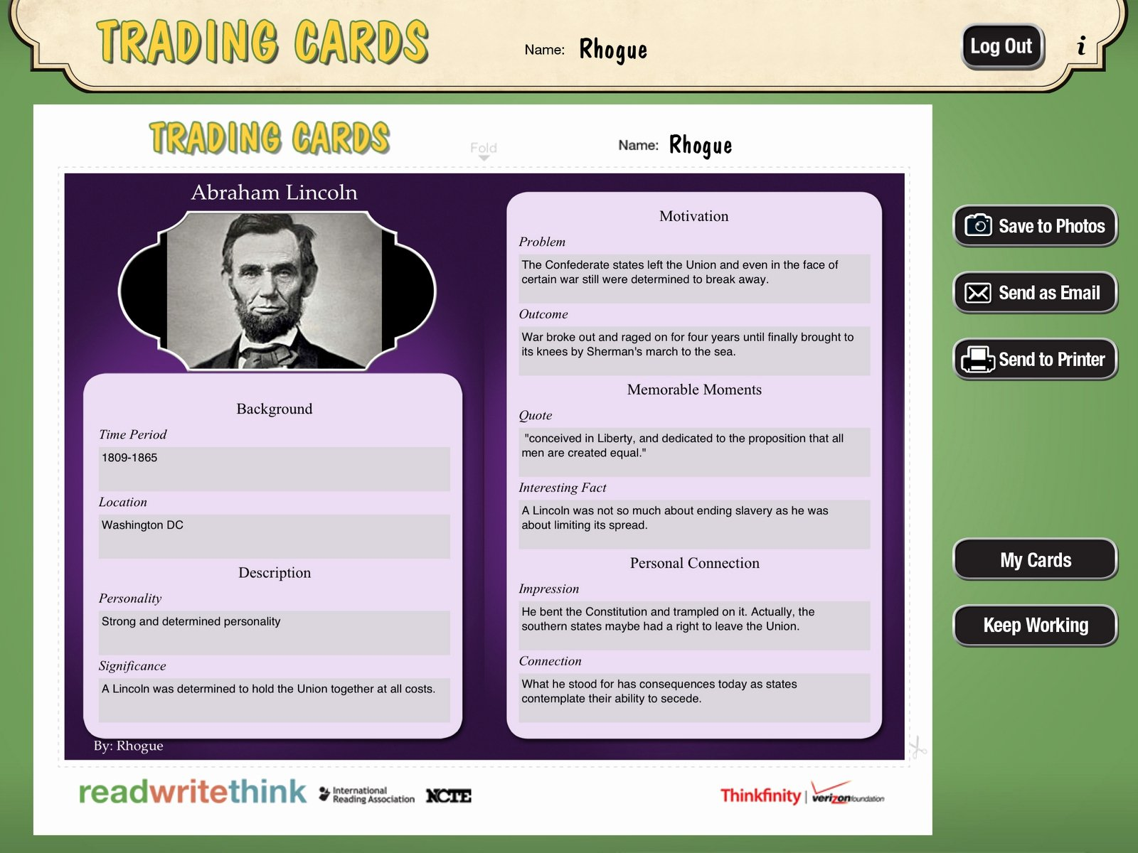 Trading Cards Template Word