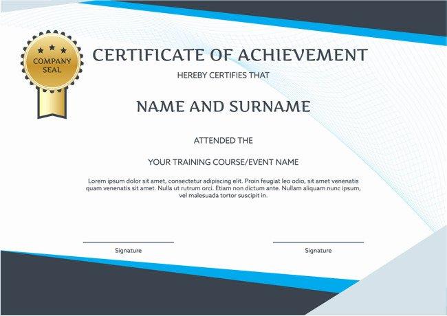 Training Certificate Template Free Download Beautiful