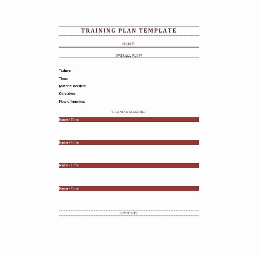 Training Manual 40 Free Templates & Examples In Ms Word