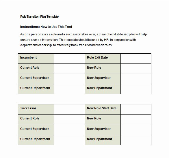 Transition Plan Template 11 Free Word Excel Pdf