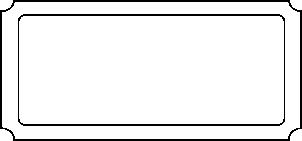 Transparent Blank Ticket Template Example for Concert with