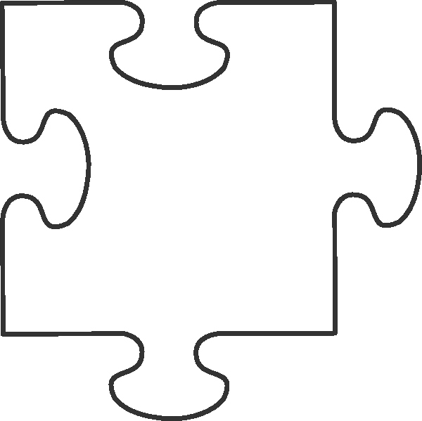 Transparent Puzzle Piece Clip Art at Clker Vector