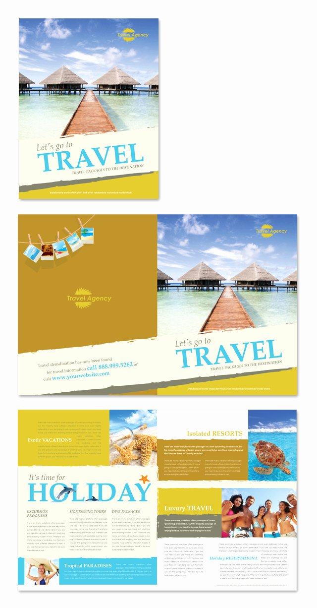 Travel Agency Brochure Template Dlayouts Graphic Design Blog