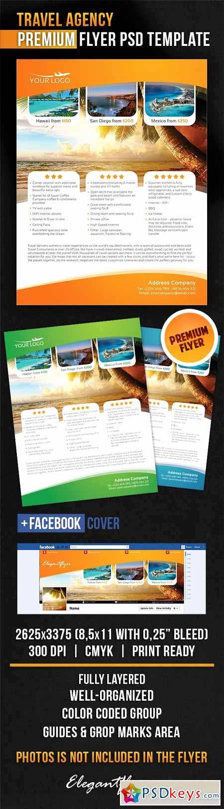 Travel Agency – Flyer Psd Template Cover Free