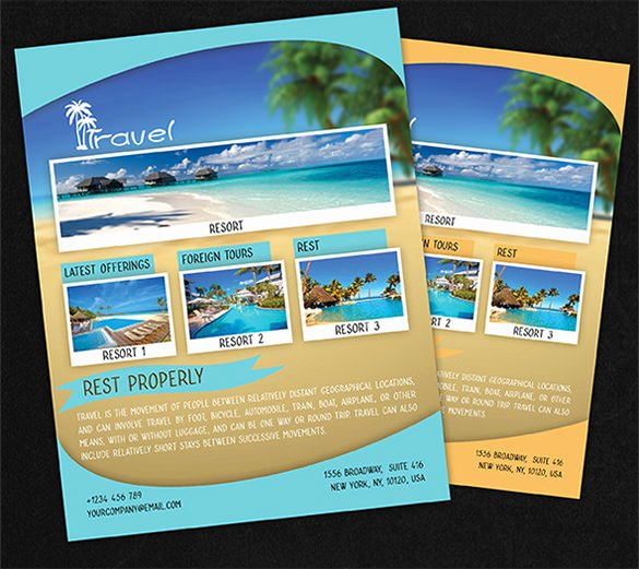 Travel and tourism Brochure Templates Free Csoforumfo