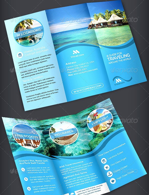 Travel Brochure Template 3 Fold 40 Best Travel and tourist