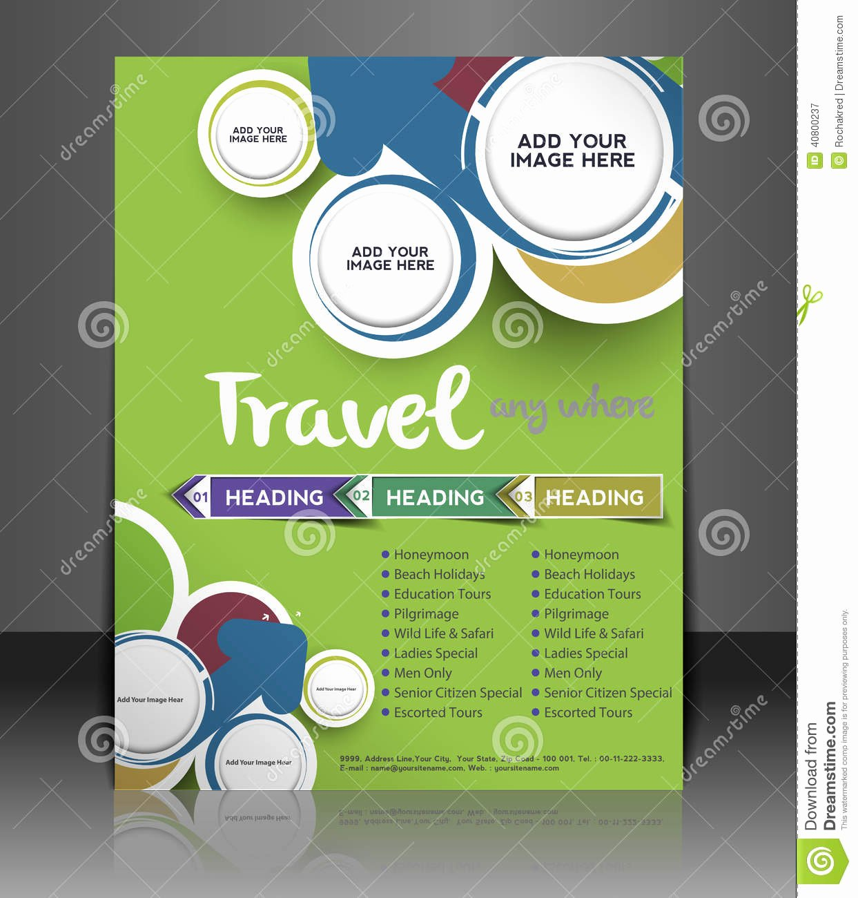Travel Center Flyer Design Stock Vector Image