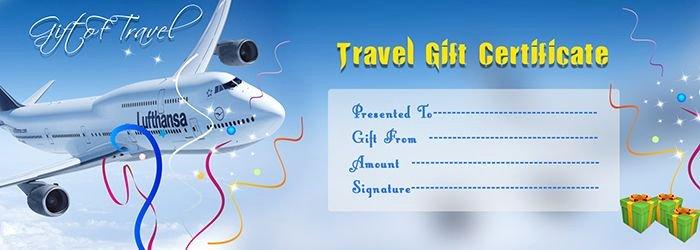 Travel Gift Voucher Certificate Template