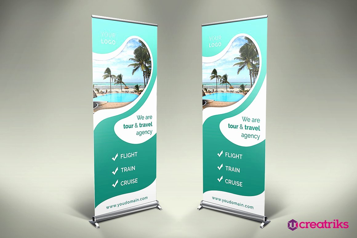 Travel Roll Up Banner V012 Presentation Templates