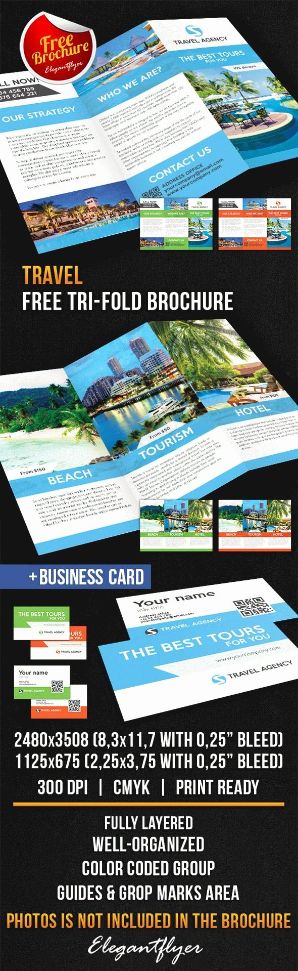 Travel Tri Fold Brochure – Free Psd Template – by Elegantflyer