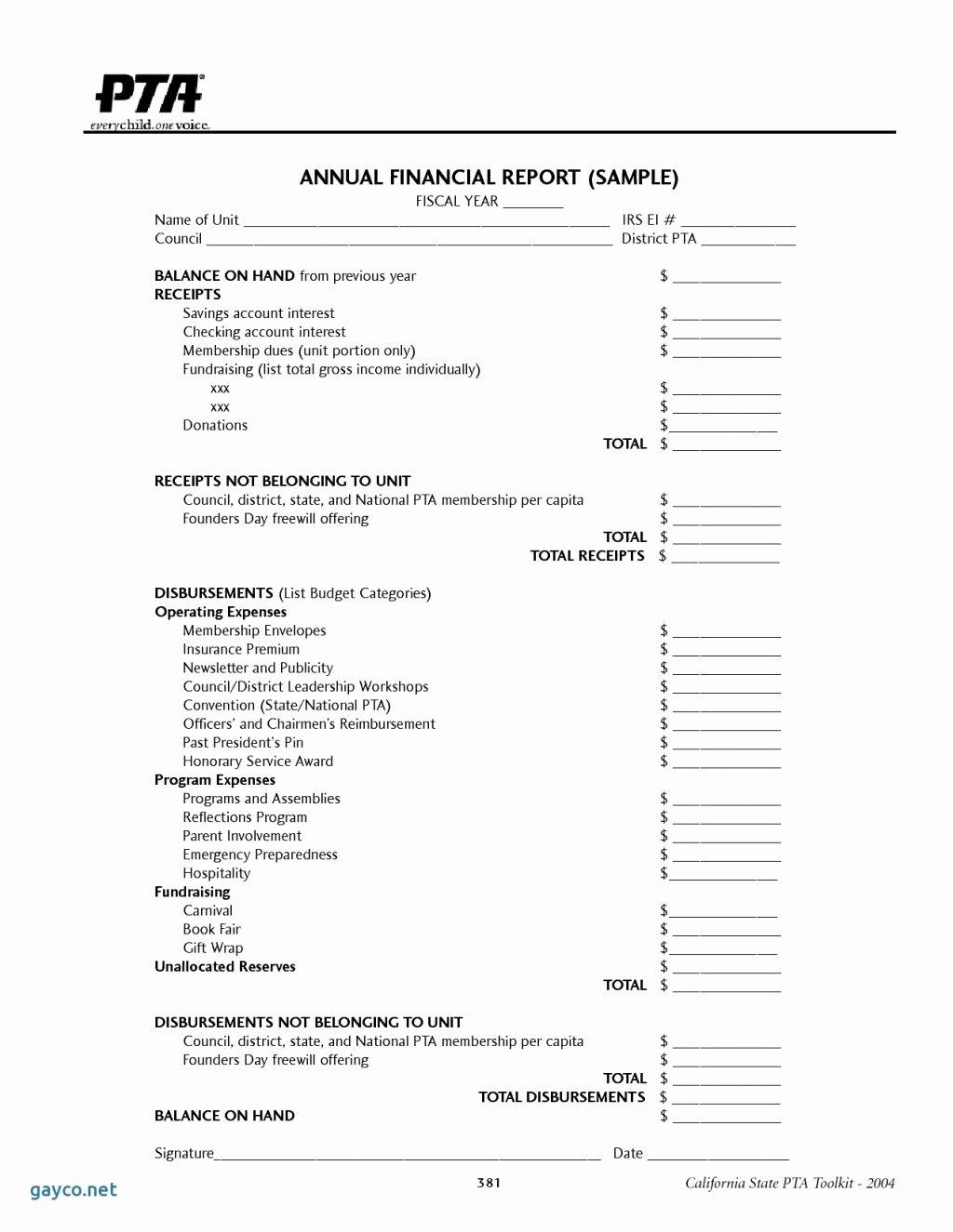 Treasurer S Report Excel Spreadsheet Intended for