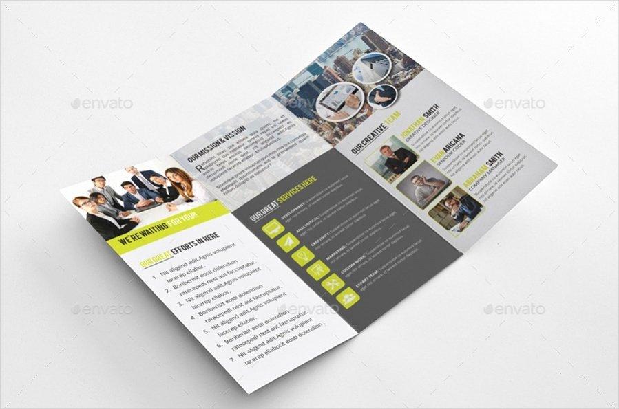 Tri Fold Brochure Designs Psd Vector Download