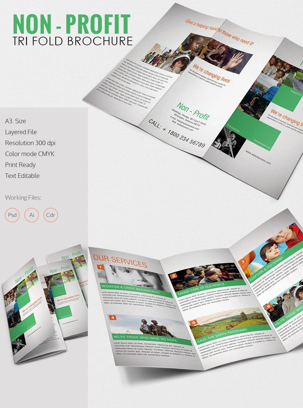 Tri Fold Brochure Template – 45 Free Word Pdf Psd Eps