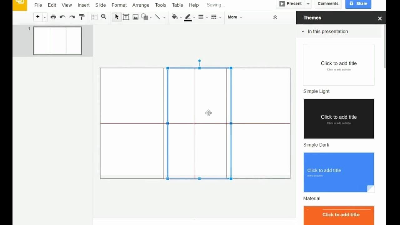 Tri Fold Brochure Template for Google Slides