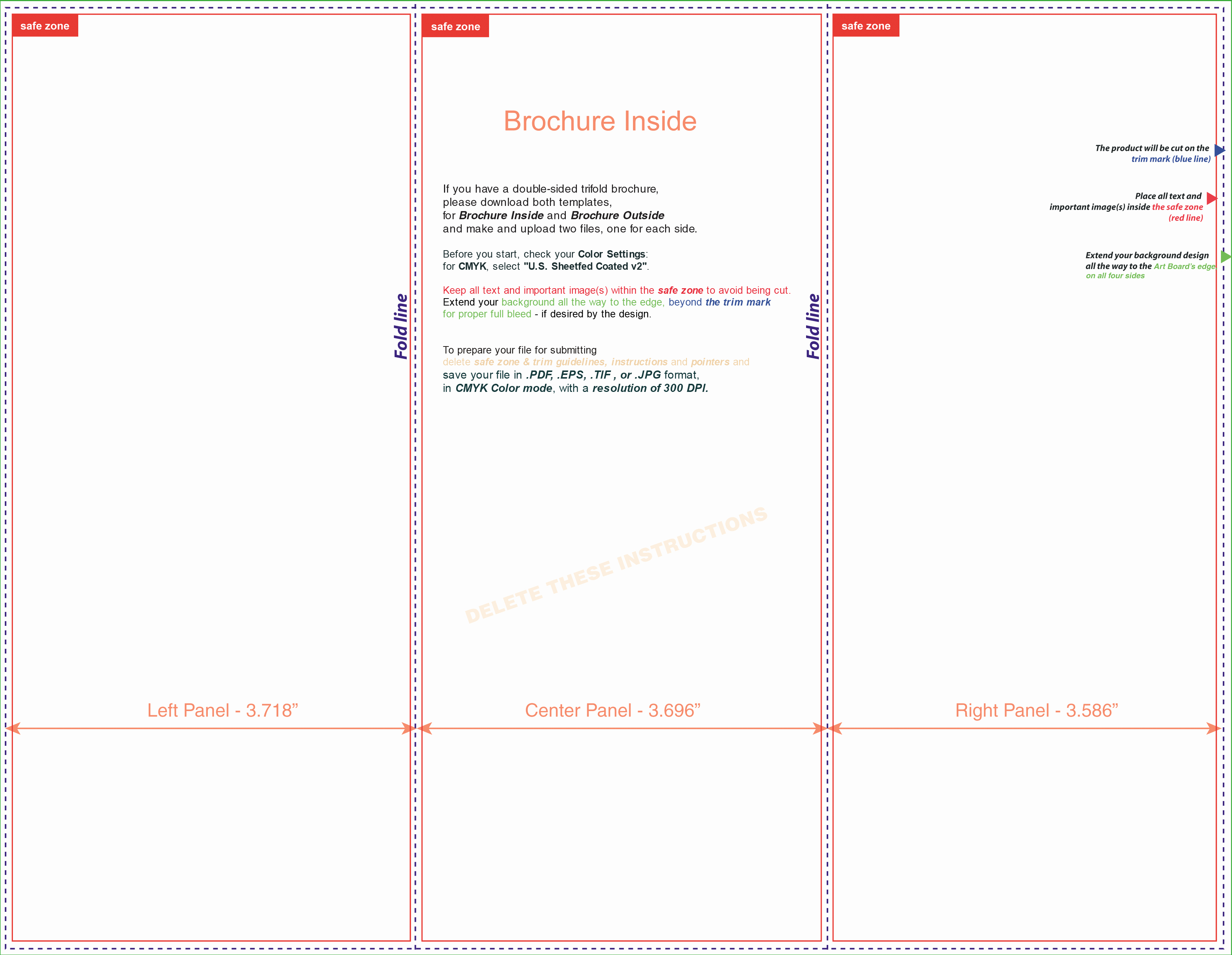 Tri Fold Brochure Template Illustrator Beautiful