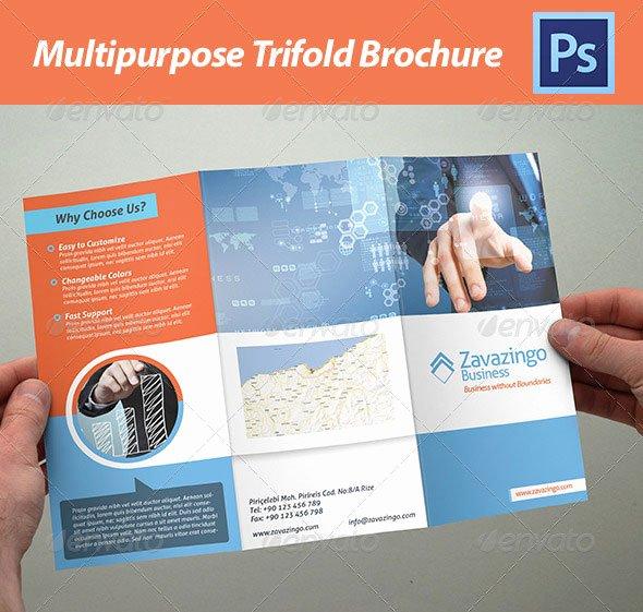 Tri Fold Brochure Template Illustrator Free Csoforumfo
