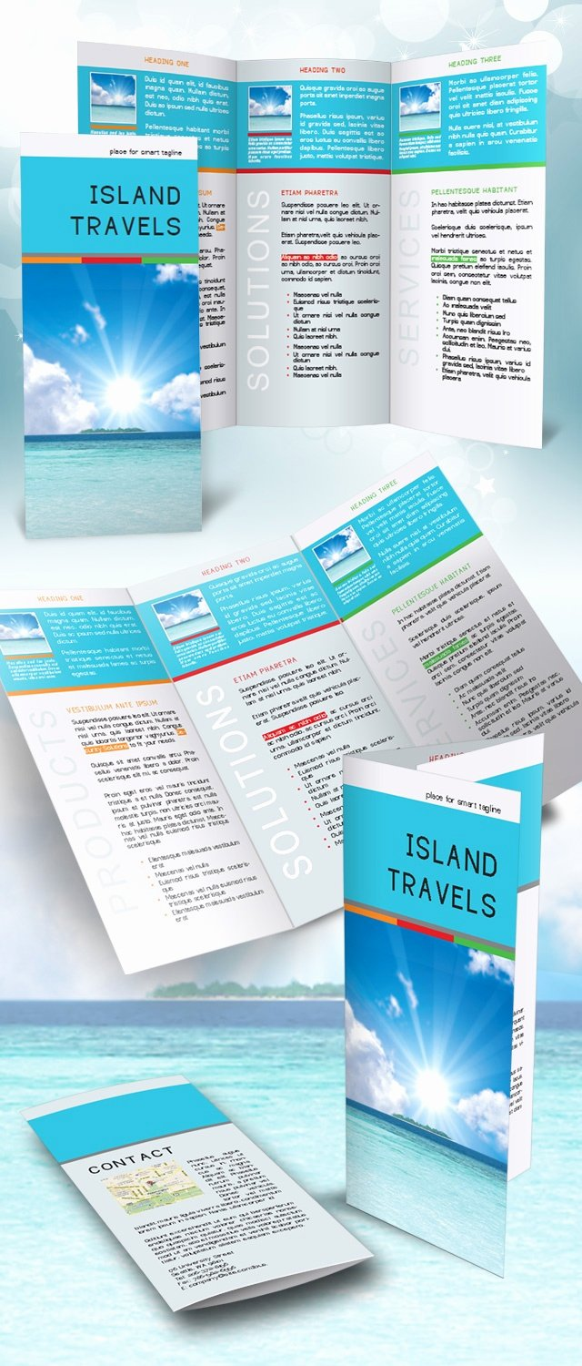 Tri Fold Brochure Template Indesign Free Earlymixe