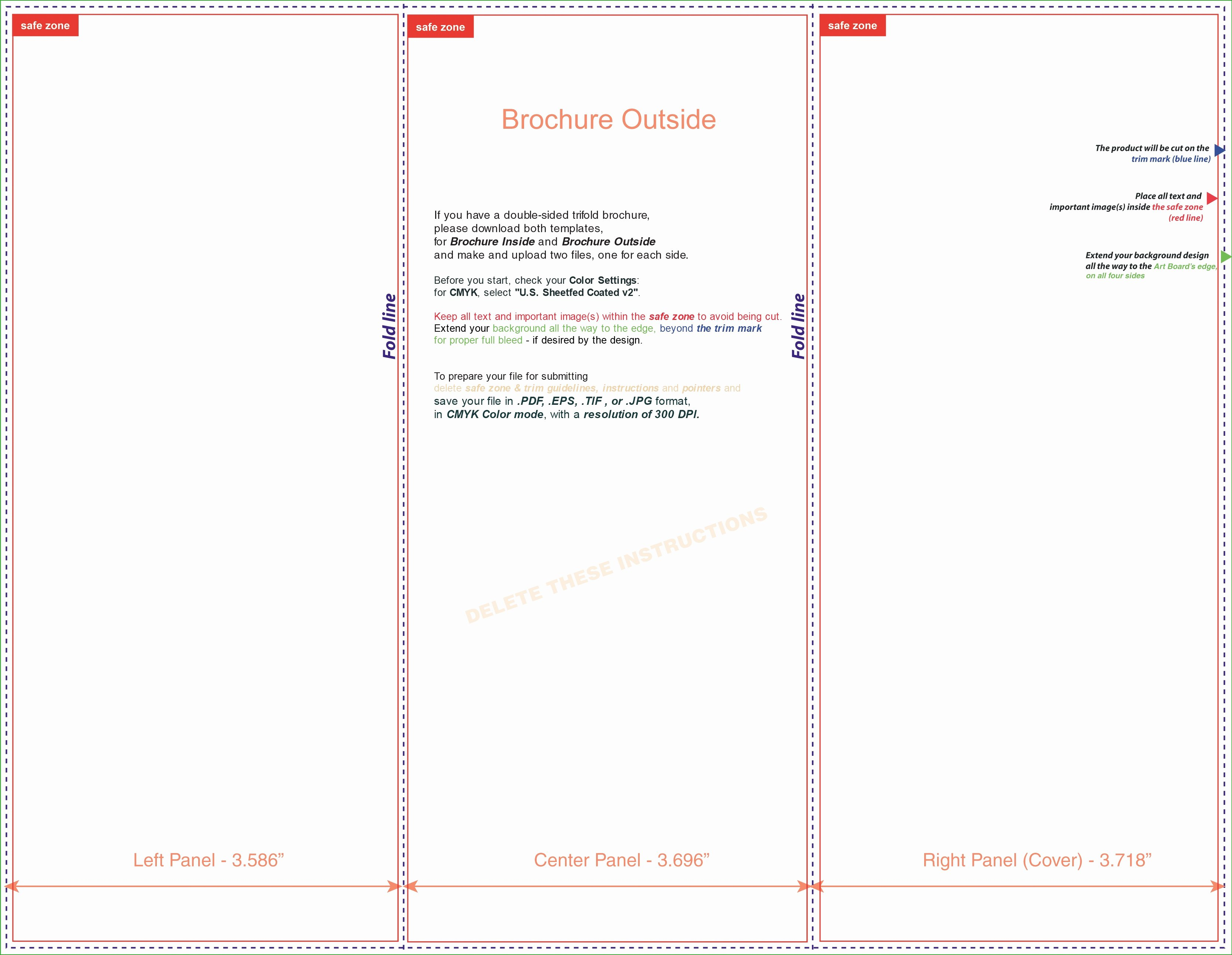 tri fold brochure template microsoft word