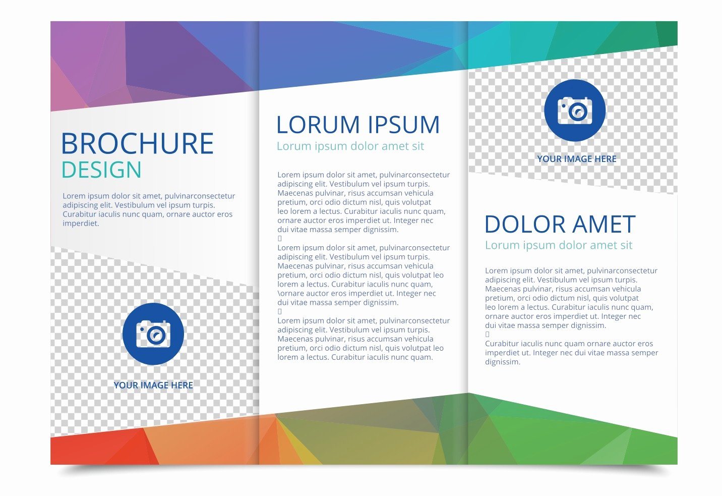 Tri Fold Brochure Vector Template Download Free Vector