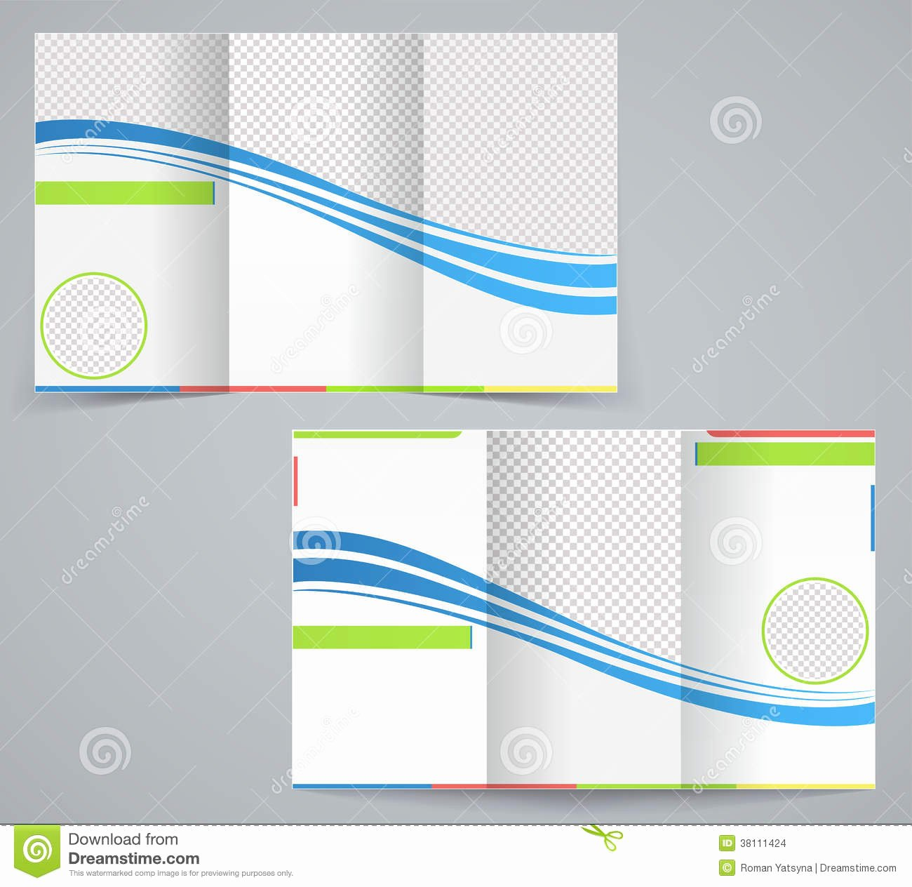 Tri Fold Business Brochure Template Stock Vector