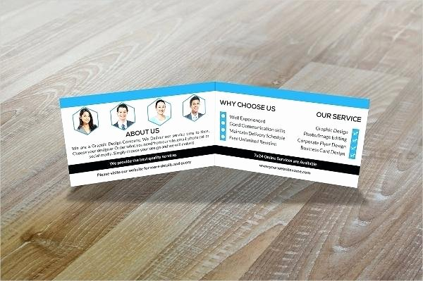 Tri Fold Business Cards Template Folded Business Cards