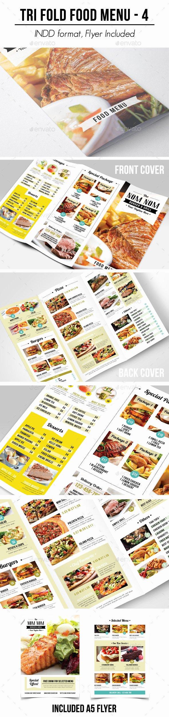 Tri Fold Food Menu 4 by Apriliapratama