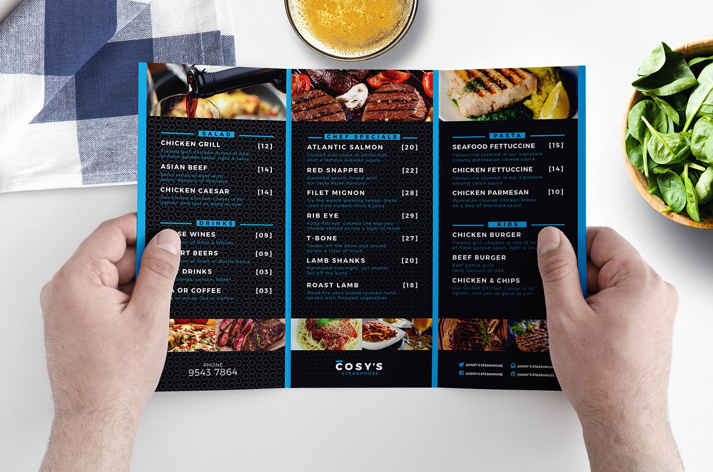 Tri Fold Restaurant Menu Template In Psd Ai & Vector