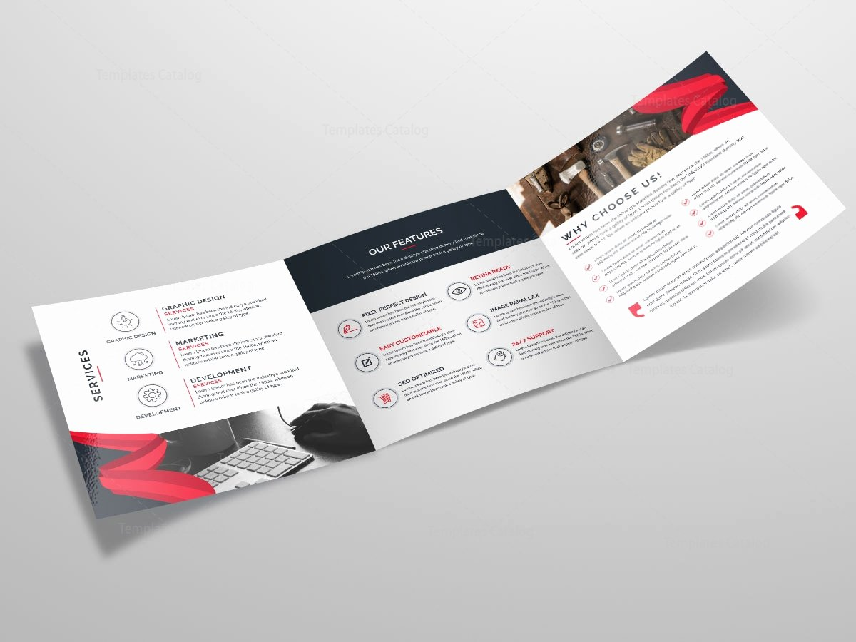 Tri Fold Stylish Business Brochure Template Template Catalog