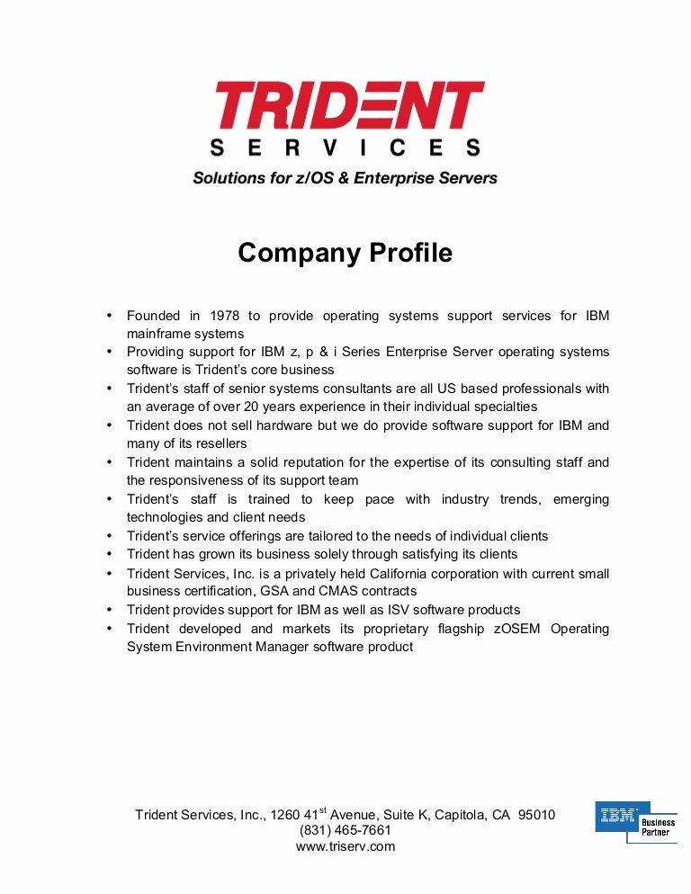 Trident Pany Profile