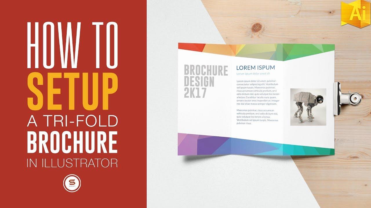 Trifold Brochure for Print In Illustrator Illustrator