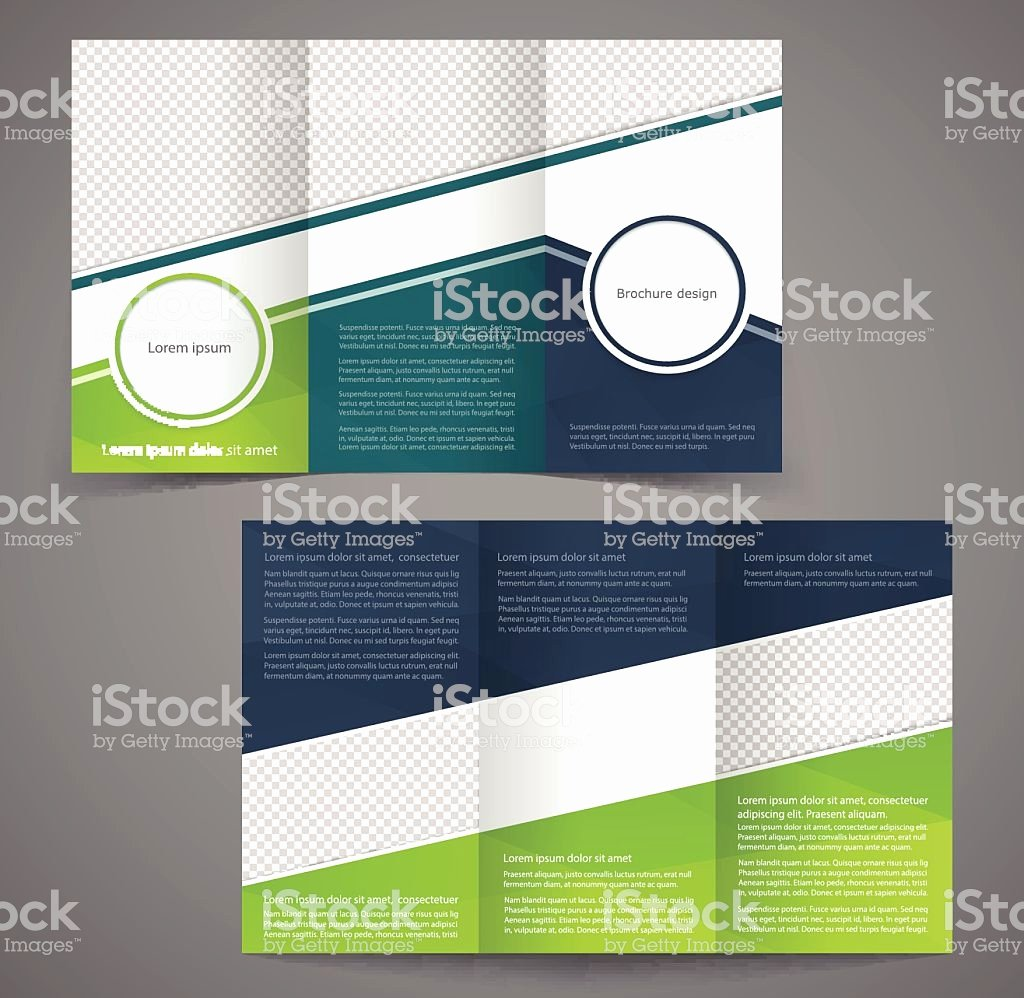 Trifold Business Brochure Template Doublesided Design