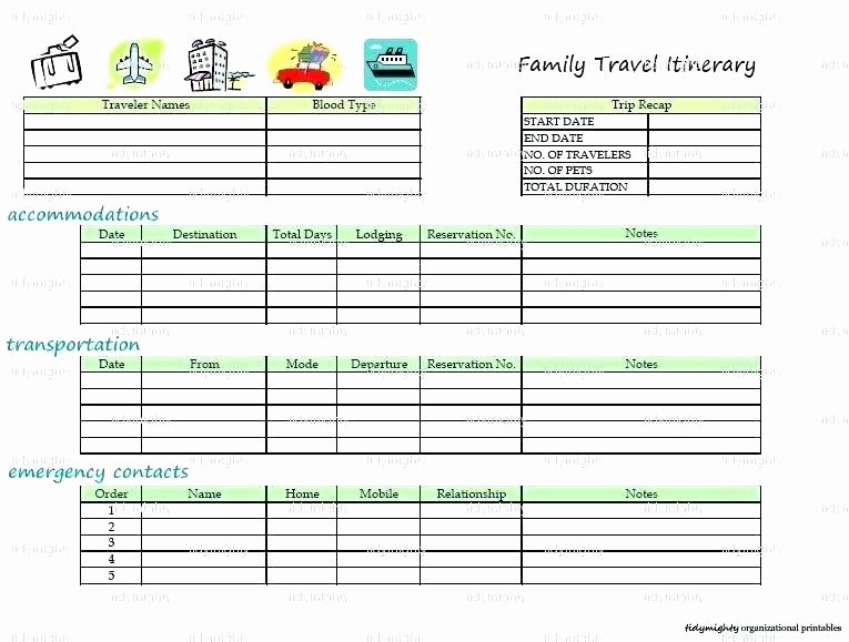 Trip Planner Templates Military Co Itinerary Template