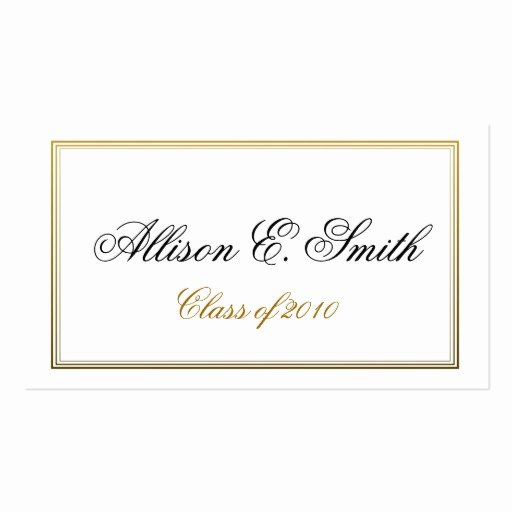 Triple Bordered Graduation Name Card Business Card