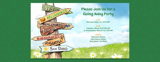 Trips and Getaways Free Online Invitations