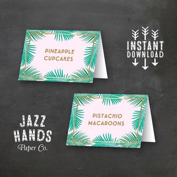 Tropical Food Labels Diy Printable