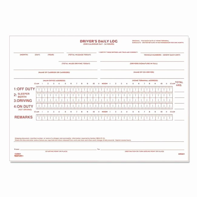 Truck Drivers Trip Sheet Template New Lovely Driver Log