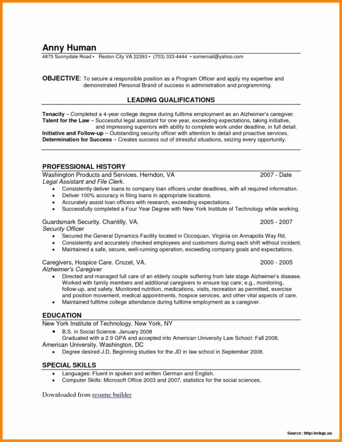 Truly Free Line Resume Builder Resume Resume