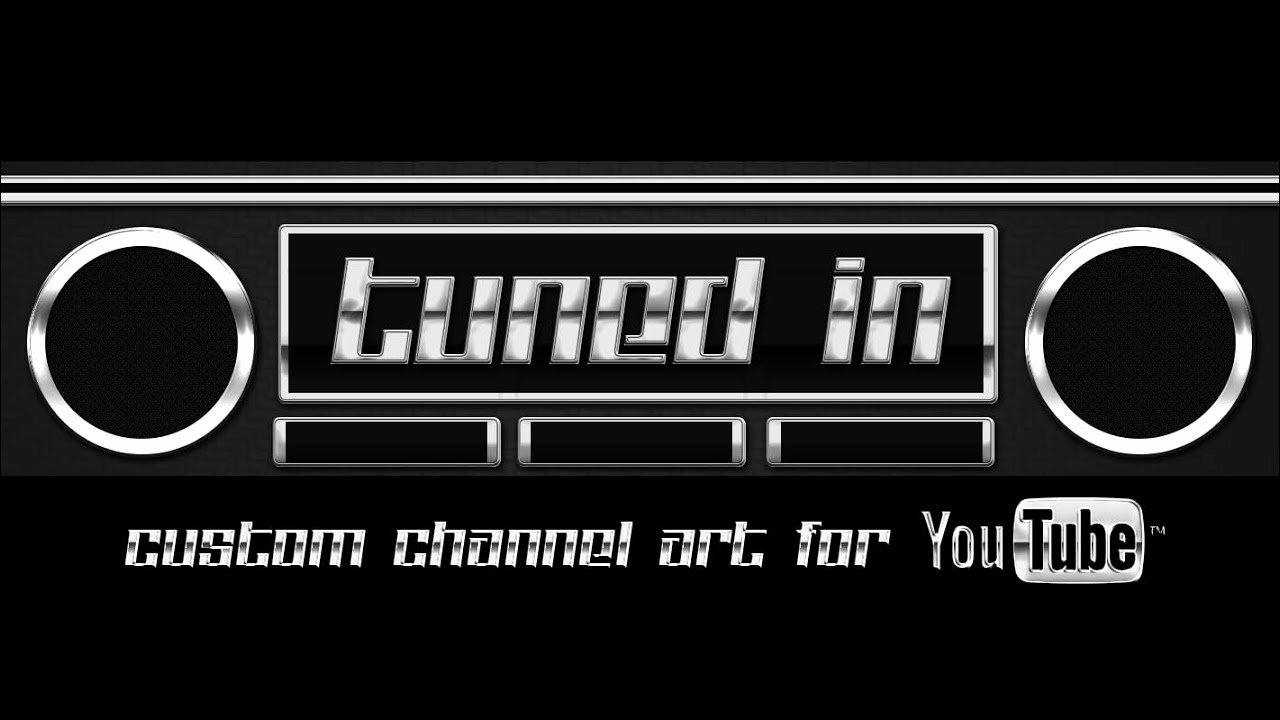 Tuned In Channel Art Template for Shop