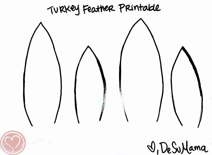 Turkey Feather Template