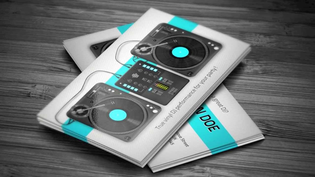 Turntablist Dj Business Card Template