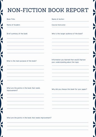 Turquoise Simple College Book Report Templates by Canva
