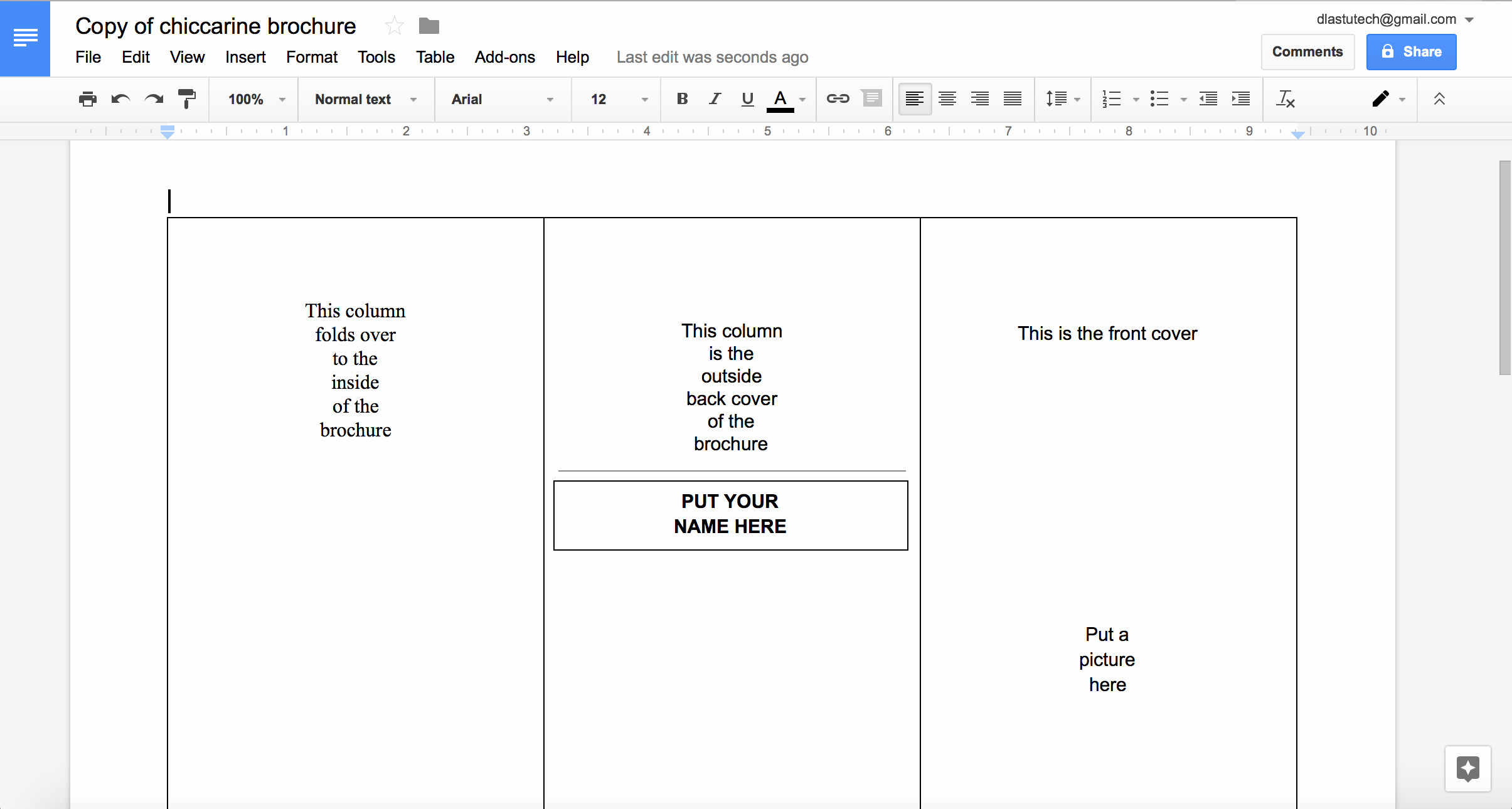 Tutorial Making A Brochure Using Google Docs From A