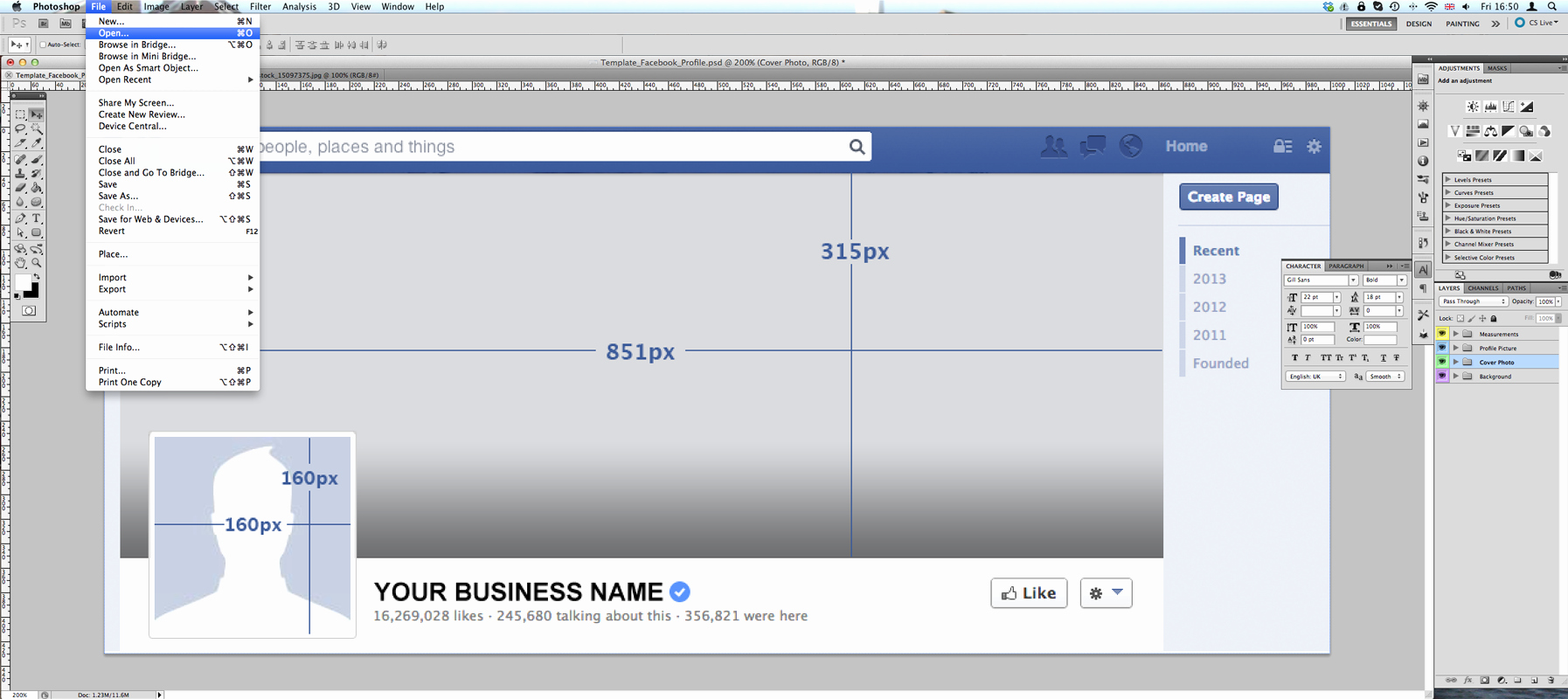 Tutorial Timeline Cover Business Template