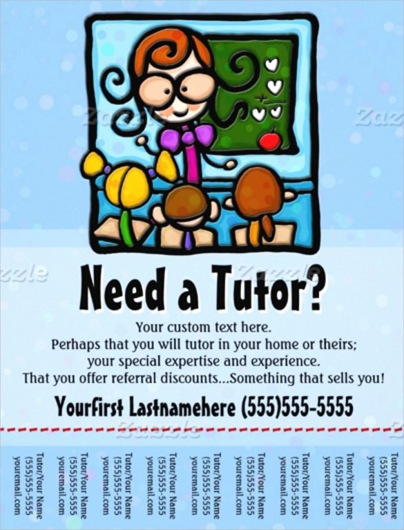 Tutoring Flyer Template Free Word Driverlayer Search Engine