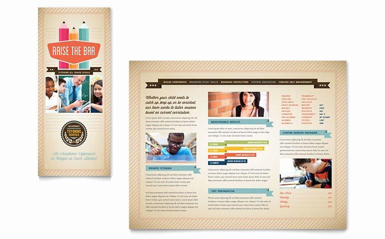 Tutoring School Brochure Template Word & Publisher