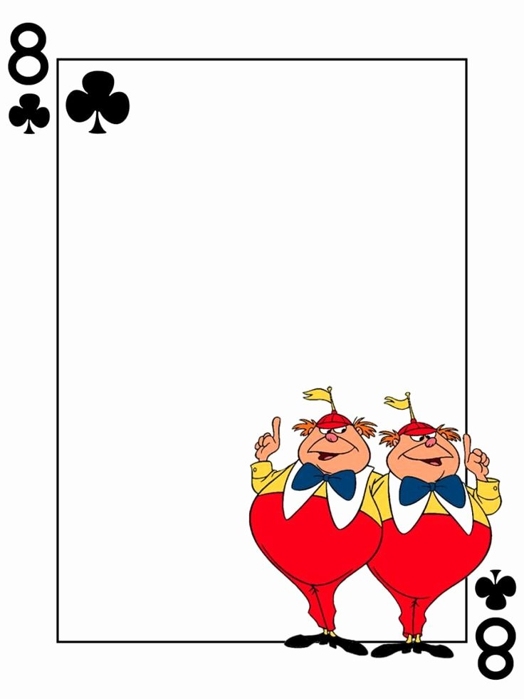 Tweedledum & Tweedledee 8 Of Clubs Alice In Wonderland