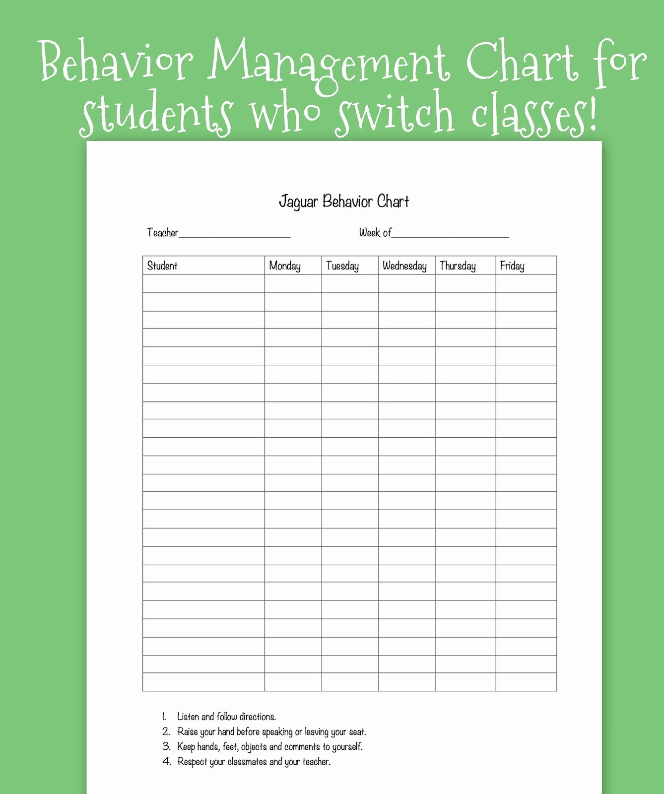 Tween Teaching Classroom Behavior System for Upper Grades