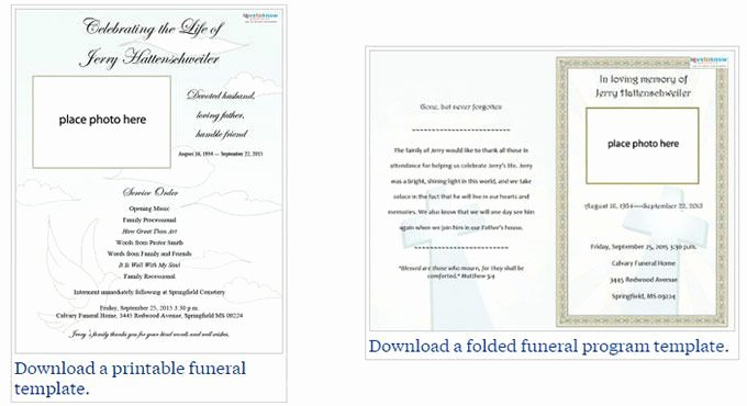 Two Free Funeral Service Templates From Love to Know