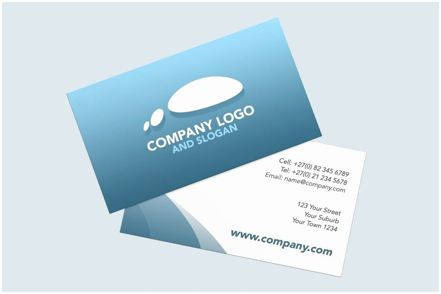 Two Sided Business Cards Elegant In Design Business Card
