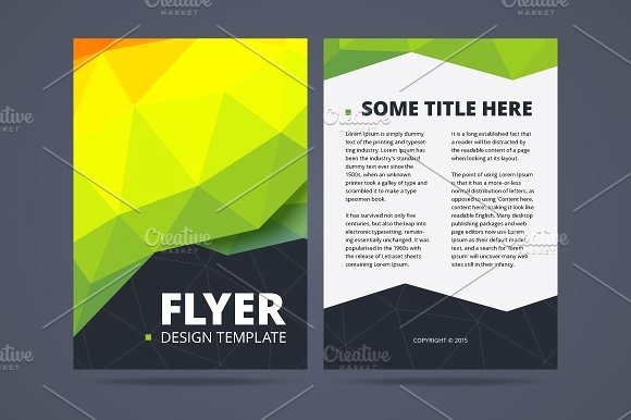 Two Sided Flyer Design Template Templates with Two Sided